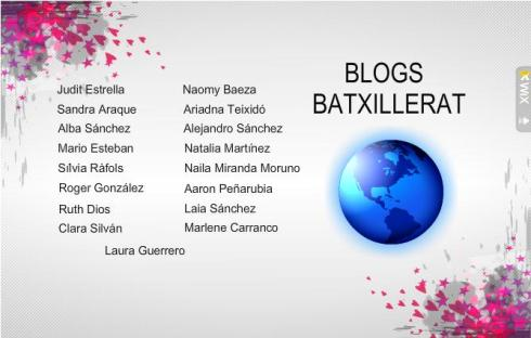 Blogs Batxillerat