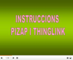 Imatge per penjar instruccions pizap i thinglink