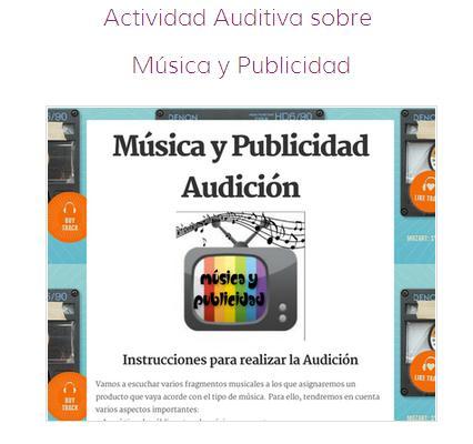 Activitat d'audició música publicitària